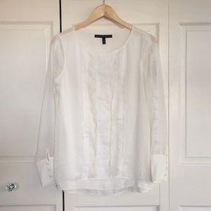 Sz 2 NWT long sleeve tuxedo blouse